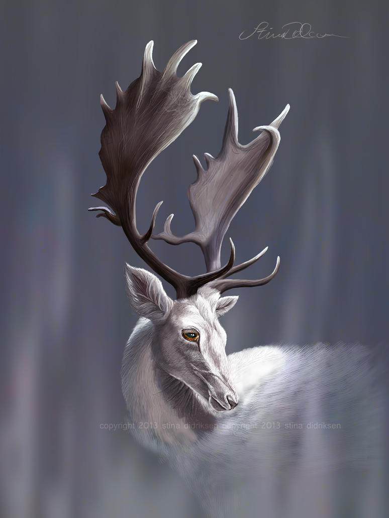White Fallow by Midnight-Sun-Art