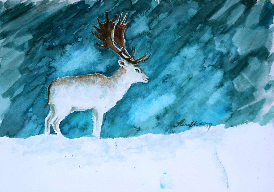 Fallow Deer by Midnight-Sun-Art