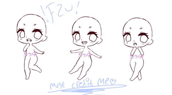 free 2 use chibi poses by TacoCandy