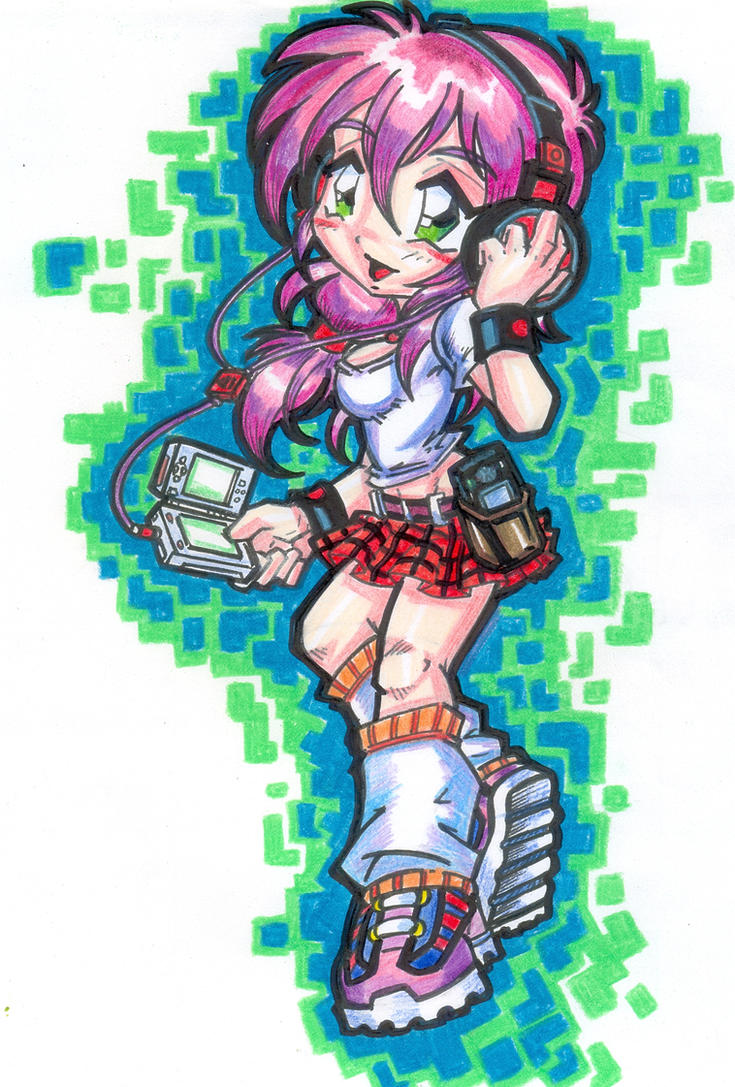 design t-shirt : 3DS GAMER GIRL by project-fallen-angel