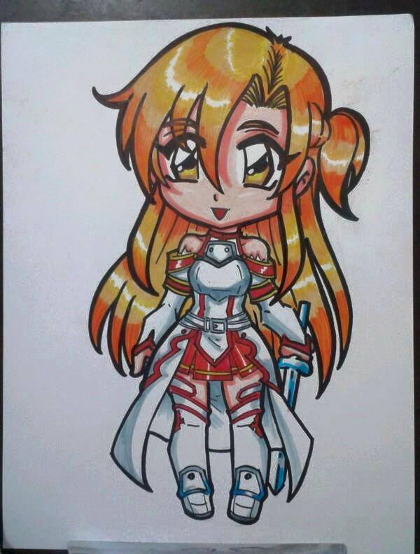 SAO : ASUNA CHIBI by project-fallen-angel