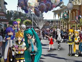 Vocaloid Disney Vacation: Main Street by TheKohakuDragon