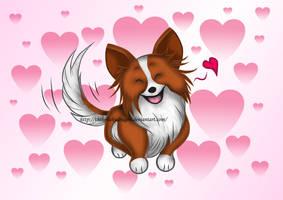 Valentine's Day Puppy by TheKohakuDragon