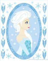 Queen Elsa by TheKohakuDragon