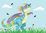 HTTYD Stormfly and Butterflies