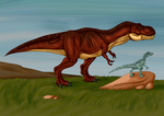 T-Rex and Velociraptor