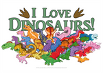 Cute and Colorful Dinosaurs