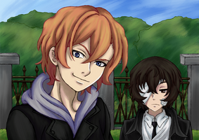 Fifteen year old Dazai and Chuuya