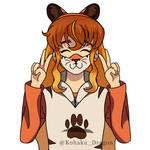 Nova's Tiger Mask by TheKohakuDragon