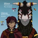 Chiron and Minos by TheKohakuDragon