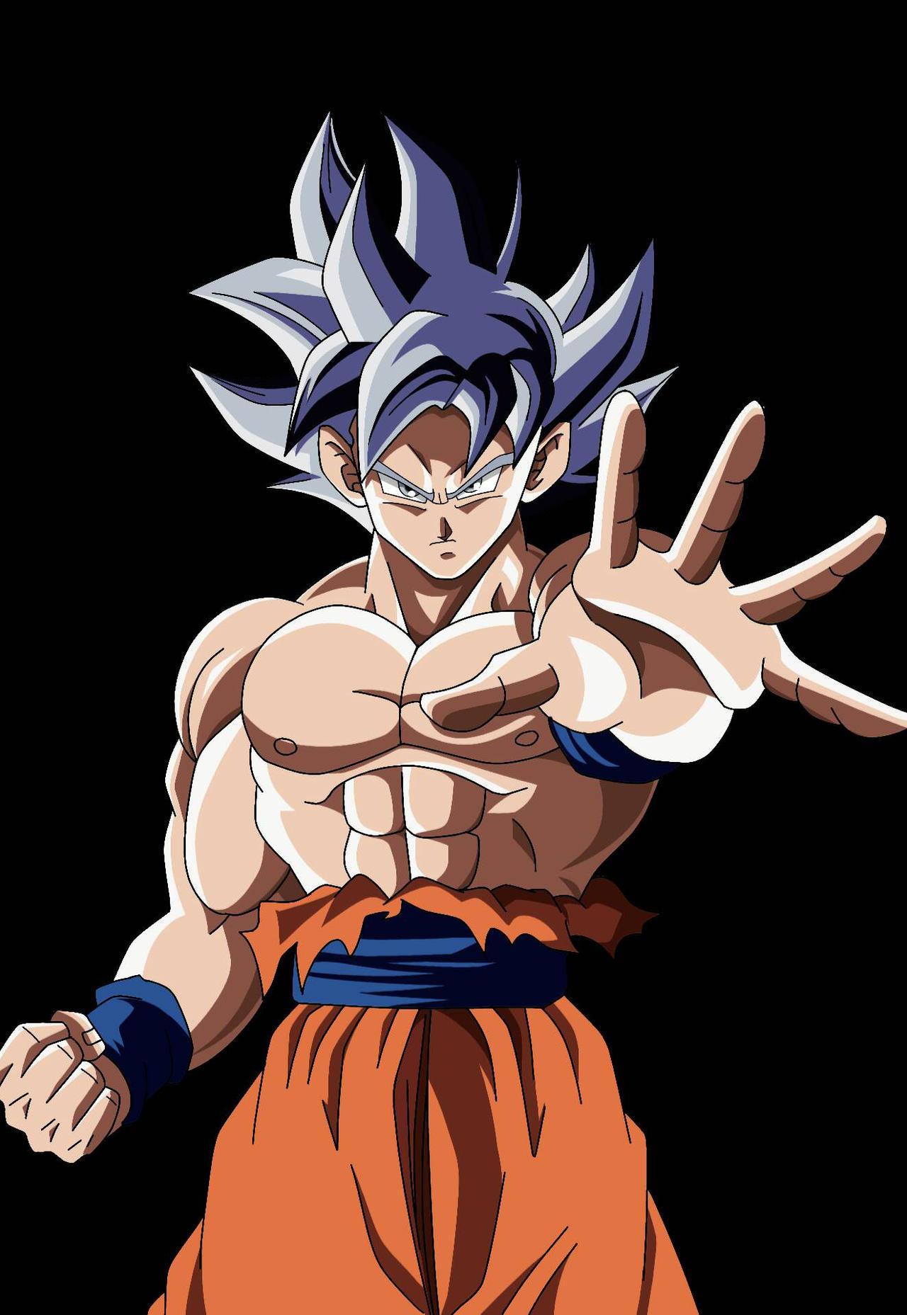 Goku Ultra Instinto Dominado Render By Alejandrodbs On Deviantart