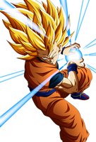 Goku SSJ 3 KameHameHa by AlejandroDBS