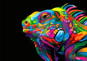 Iguana Colorful Vector Illustration