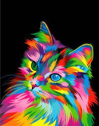 Cute Cat Colorful Vector