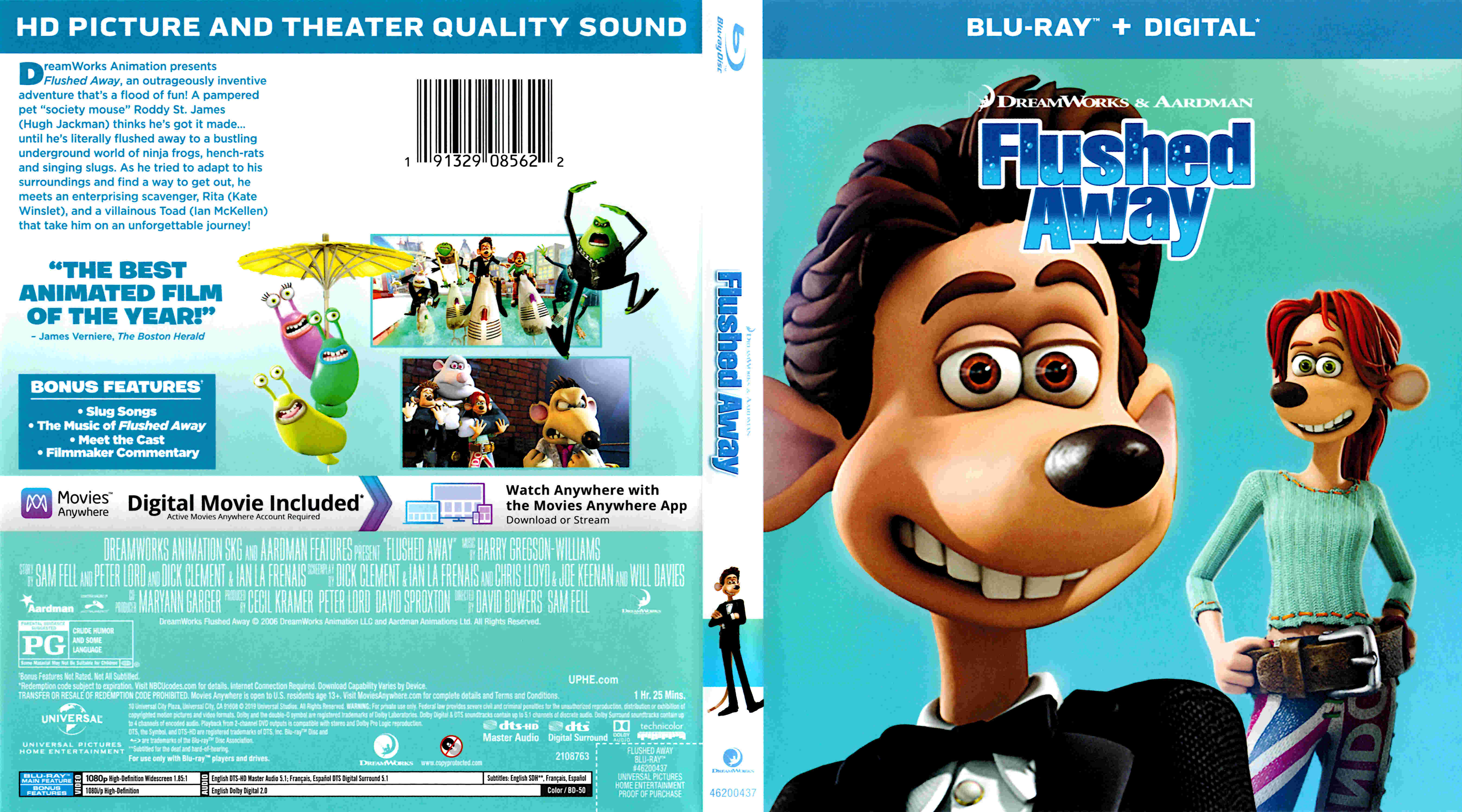 Flushed Away 2006 R1 Front Www Freecovers Net By Psycosid09 On Deviantart