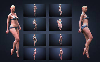 Female Pose Reference 360 + perspectives by inspiring-references
