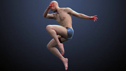 3D Male Pose Reference by inspiring-references