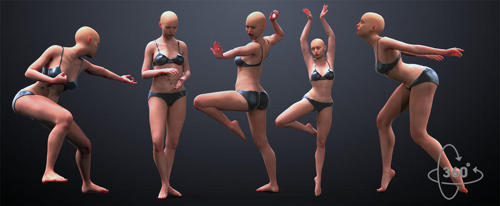 5 Female Poses by inspiring-references