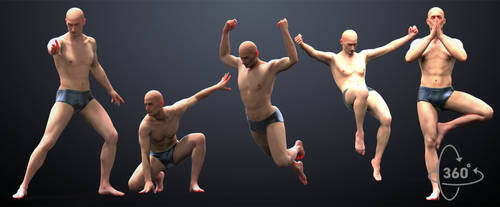 5-pack Male Poses