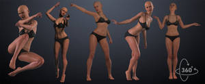 5pack F poses by inspiring-references