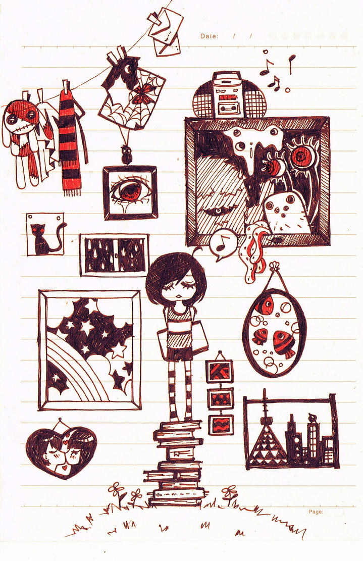 Classroom doodle by Kuroeno