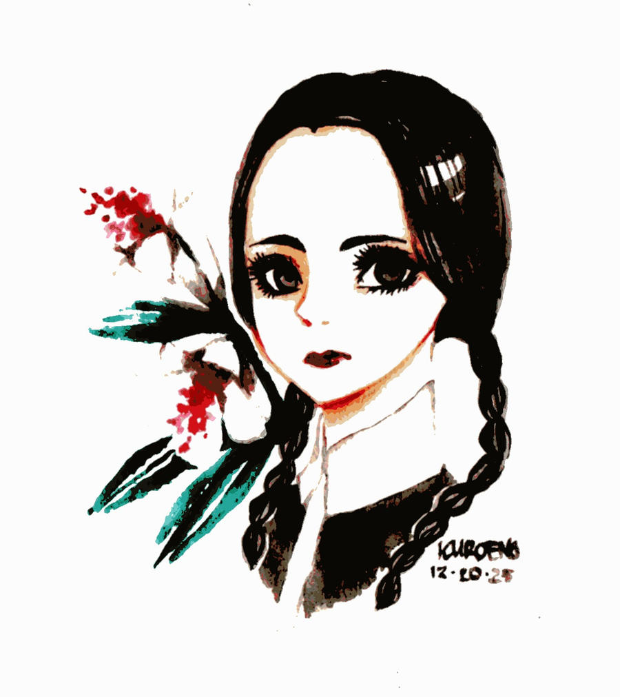 Wednesday Addams by Kuroeno
