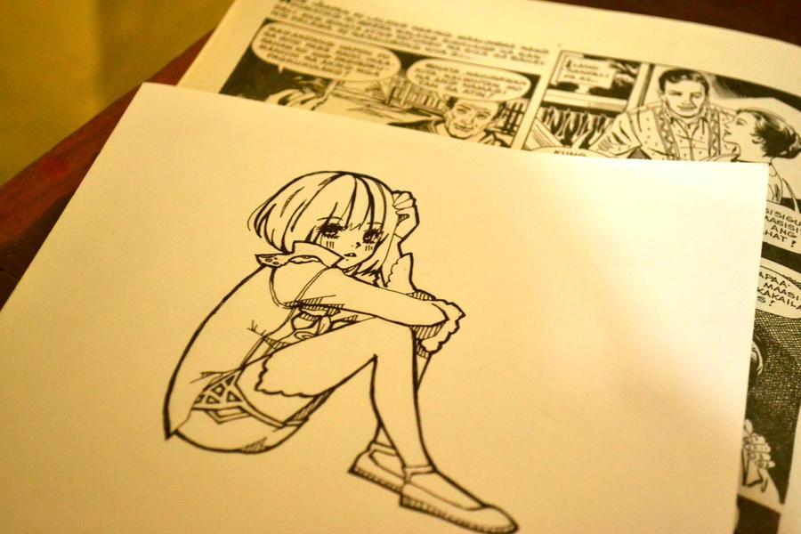 Edel Blau WIP by Kuroeno