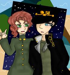 Jotaro and Kakyoin - crusaders of the world