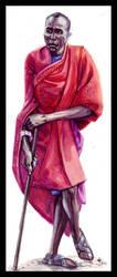 . Masai Warrior . by RozlynnWaltz