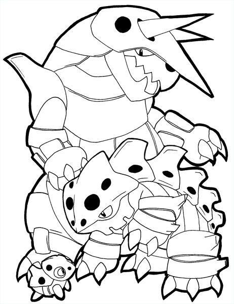 Coloring Pages Of Pokemon Aggron : Aron, Lairon, and Aggron lines by zaiqukaj on DeviantArt