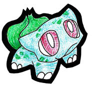bulbasaur cutout by zaiqukaj