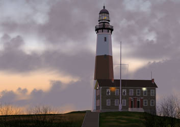 Montauk Point Lighthouse by wishnito