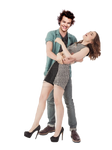 Harry Styles Lily Collins Png Photomanipulation