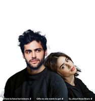 lily collins Matthew Daddario PNG photomanipulatio by mymySA