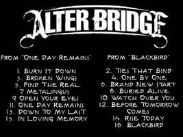Alter Bridge Compilation Back by CreamCrazy