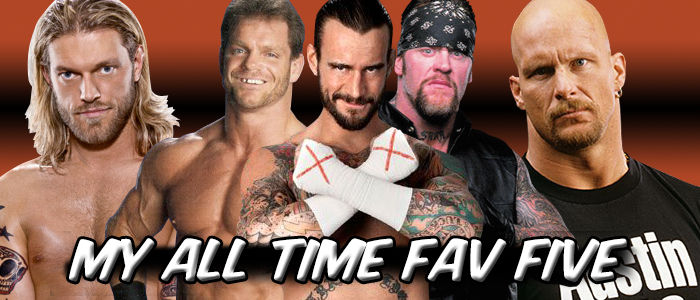 WRESTLING BANNERS: 31: All Time Fav Five