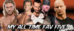 WRESTLING BANNERS: 31: All Time Fav Five by CreamCrazy