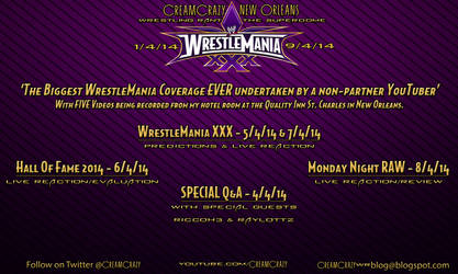 WRESTLEMANIA 30 VIDEO SCHEDULE by CreamCrazy