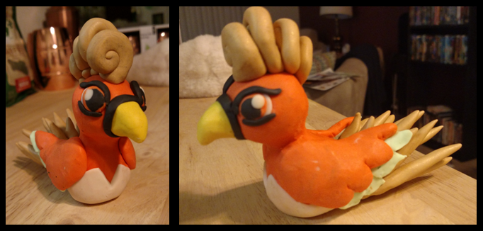 Ho-Oh Sculpture by XeclipsesX