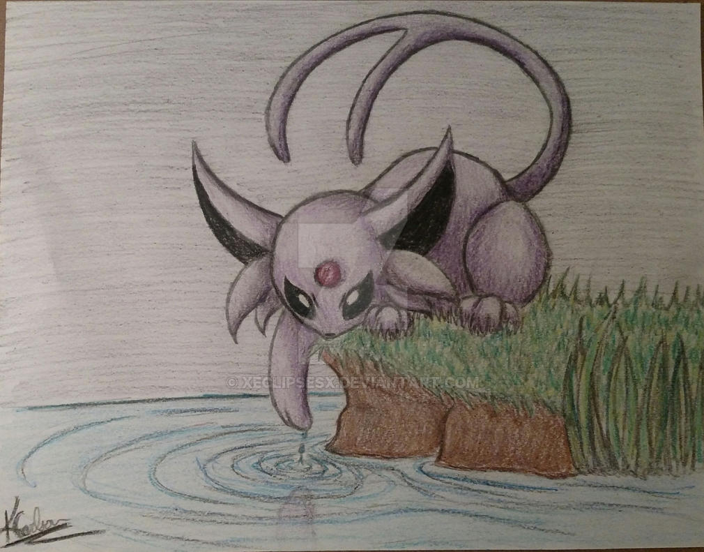 Art Trade - Espeon by XeclipsesX