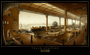 Train Station by Roseum