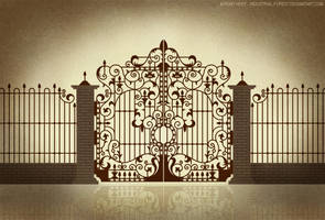 Iron gate design 1 by Roseum