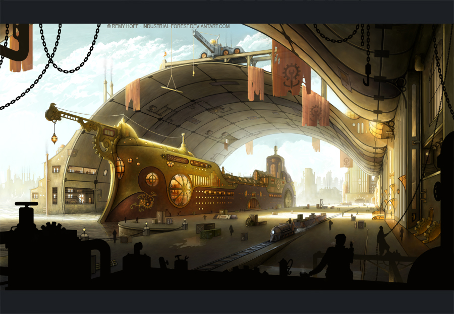 Steampunk Ship Art