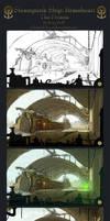 Process of Steampunk Ship: BH