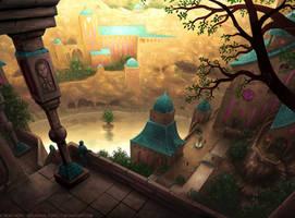Secret Mountain City by Roseum