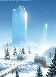 Ice Block Mountains by Roseum