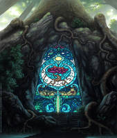Entrance To The Sacred Tree III by Roseum