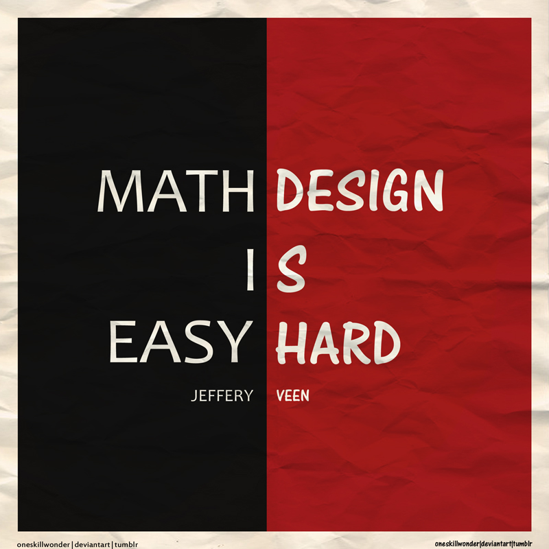 Art Vs Design : Math vs design by oneskillwonder on deviantart