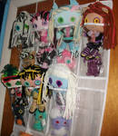 Monster High ragdolls.