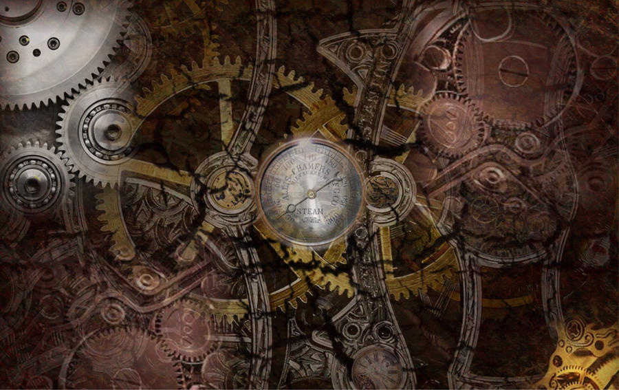 steampunk wallpaper v2 by colgreyis